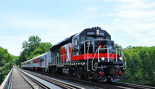Image of Hartford line train in service.